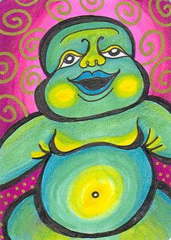 Green Baby Buddha